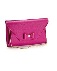 Lili Bou Bright bow clutch