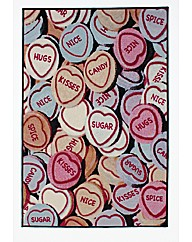 Love Hearts Printed Rug