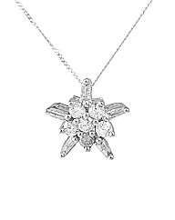 9ct WG 0.50ct Diamond Cluster Pendant