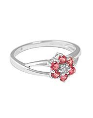 9ct Diamond and Pink Tourmaline Ring