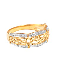 9ct Yellow Gold Knot Style Ring