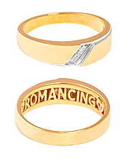 9ct YG Gents Romancing Ring