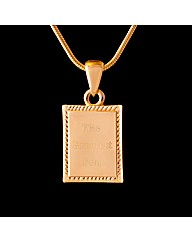 Gold Plated Son Message Pendant