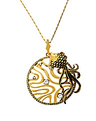 Gold Plated Fish Pendant
