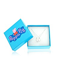 Peppa Pig Silver Split Heart Pendants