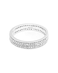 9ct WG 0.50ct Double Row Eternity Ring