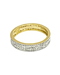 9ct YG 0.50ct Double Row Eternity Ring