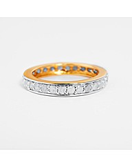 9ct Yellow Gold 1ct Eternity Ring