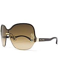 MIU MIU Over-size Visor Sunglasses
