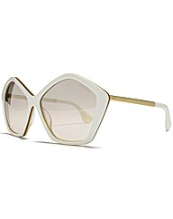 MIU MIU Pentagon Black Gold Sunglasses