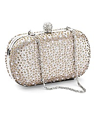 Lili Bou gem stone evening bag