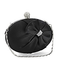 Lili Bou oval clutch with bow design