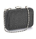 Lili Bou satin diamante box clutch