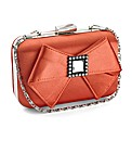 Lili Bou satin box clutch