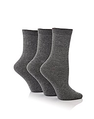 Pringle 3 Pack Plain Cotton Lycra Socks