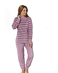 Naturana Mauve Knit Cuff Pyjamas