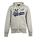 Mens Grey Burngate Zip Hood