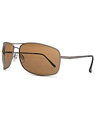 Peter Werth Metal Rectangle Sunglasses