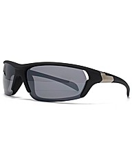 F-Polarised Overlaid Wrap Sunglasses