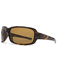 F-Polarised Rectangular Wrap Sunglasses