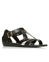 Moda in Pelle Neri Ladies Sandals