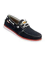 Mens Burnbake Boat Shoe Navy