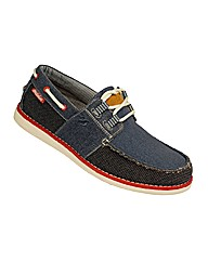 Mens Burnbake Boat Shoe Navy/Grey