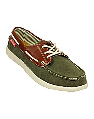 Mens Jerry Boat Shoe Green/Brown