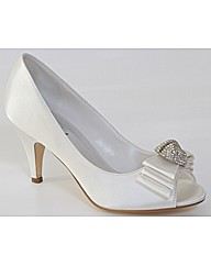 Perfect Peep Toe Bow/Diamante Trim Court