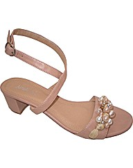 Strawberry Pearl Trim Sandal