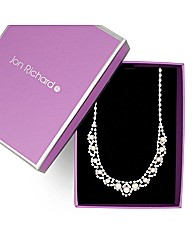 Jon Richard Scalloped Diamante Necklace