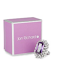 Jon Richard Purple Crystal Cocktail Ring