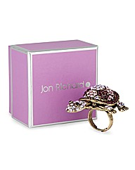 Jon Richard Crystal Turtle Cocktail Ring