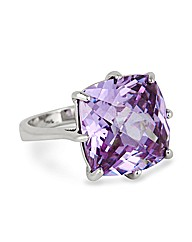 Jon Richard Square Cubic Zirconia Ring