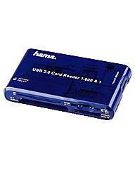 Hama Multi Card Reader USB 2.0 - Blue