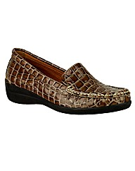 Riva Antuia Croco Leather Moccasin