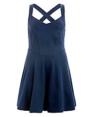 Koko Cross Over Back Multi Layer Dress