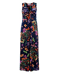 Praslin Floral Twist Front Maxi Dress