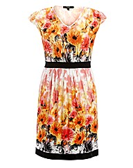 Koko Floral Border Print Dress