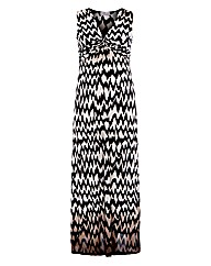 Praslin Chevron Print Maxi Dress