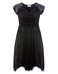 Praslin Black Sequin Sleeve Dress