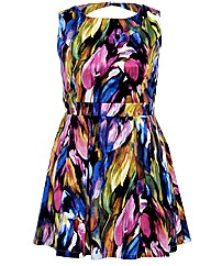 Koko Cut Out Back Print Dress