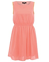 Koko Chain Arm Chiffon Dress