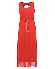 Koko Chiffon Rope Belt Maxi Dress