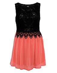 Koko Lace Contrast Skater Dress