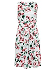 Samya Floral Watercolour Print 50S Dress