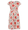 Samya Floral Print Tailored Midi Dress
