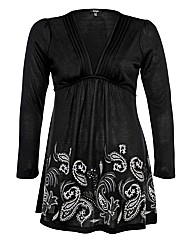 Samya Cut And Sew V-Neck Paisley Dress
