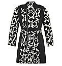 Samya Geo Print Trench Coat