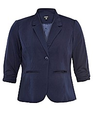 Samya Ruched Sleeve Blazer Jacket